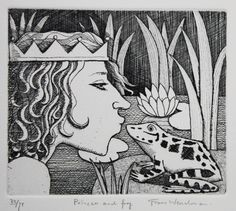 Princess and Frog  33/75 by Frans Wesselman
