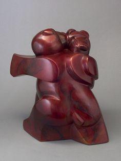 #Bronze Abstract Dance / Dancer #artwork by #sculptor Mark Yale Harris titled: 'Bear Tango (Small bronze Modern Dancing Teddy Bears Satuette)'. #art #artist #sculpture #MarkYaleHarris