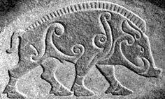 Pictish Celtic boar carving