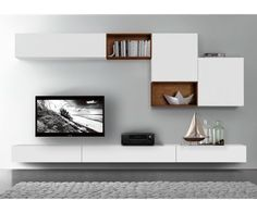 44 Modern TV Stand Designs for Ultimate Home Entertainment Tags: tv stand ideas for small living room, tv stand ideas for bedroom, antique tv stand ideas, awesome tv stand ideas, tv stand ideas creative Living Room Tv Unit, Home Living Room, Living Room Designs, Living Room Decor, Tv Wall Ideas Living Room, Corner Cabinet Living Room, Living Area, Wall Cabinets Living Room, Tv Wall Design