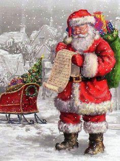 Christmas love this santa Christmas Scenes, Christmas Past, Father Christmas, Little Christmas, Christmas Pictures, Winter Christmas, Christmas Glitter, Santa Pictures, Christmas Wishes