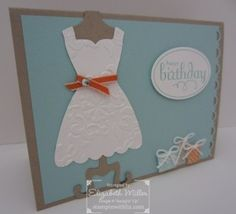 Stampin' Up: Dress Up Framelits, Patterned Party & Perfect Punches stamp sets. Liz Miller