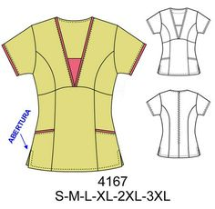 Spa Uniform, Scrubs Uniform, Scrubs Pattern, Restaurant Uniforms, Corporate Uniforms, How To Make Clothes, Making Clothes, Fashion Design Sketches, Dress Sewing Patterns