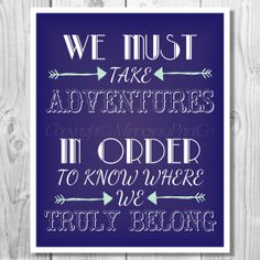 Take Adventures Download Print 8x10 Travel by MinnesotaPrintCo, $5.00