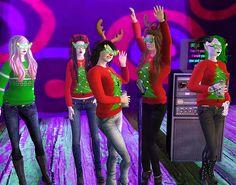 singing christmas carols in tableau