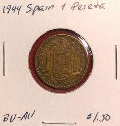 Spain Peseta, 1944, World Coin | Coins & Paper Money, Coins: World, Europe | eBay!