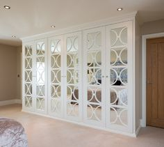Mirrored Wardrobes with Fretwork - transitional - Closet - Yorkshire And The Humber - Acastrian Bespoke Fitted Furniture