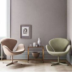 Living Room Chairs, Living Room Furniture, Dining Room, Poltrona Swan, Chair Design, Furniture Design, Ikea 2015, Swan Chair, Decoration
