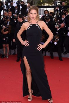 Sleek as ever: Doutzen Kroes was one of the best-dressed on the red arpet, flaunting her a...