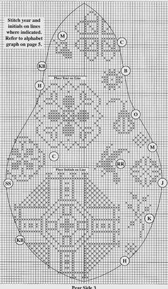"""Милые сердцу штучки: Вышивка квакеров: """"Груша"""" (схема и инструкция)"""
