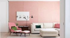 Tons de rosa: 80 ideias adoráveis para usar a cor na decoração Pink Bedroom Walls, Pink Color, Living Room Decor, Home Decor, Jenni, Wall Colors, Wall Hanging Decor, Colorful Decor, Bold Colors