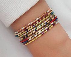 Miyuki beads Swarovski and natural stone jewelry by Milamiyu Jewelry Patterns, Bracelet Patterns, Seed Bead Bracelets, Bangle Bracelets, Jewelry Gifts, Jewelery, Natural Stone Jewelry, Handmade Bracelets, Beaded Jewelry