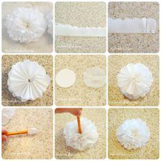 Flor en papel de seda