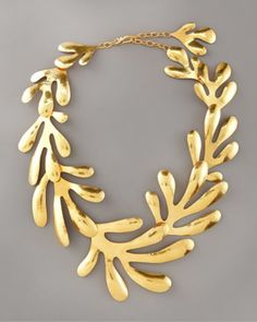 Herve Van Der Straeten Coral Bib Necklace