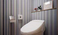 14種類の壁紙を使ってトイレのイメージの変化を見てみましょう。 最初のイメージはホワイトブリックの壁紙を貼ってみたイメージです。 続いて、ピンク壁紙でキュートな印象に。 ピンクの壁紙はとてもキュートな印象になります。 ピ …