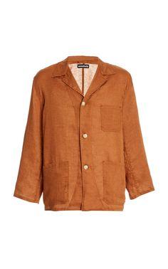 Vintage 1980/'s Basic Navy Blue Collared Button Down Utilitarian Jacket