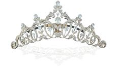 Diamonds, silver, gold, and tortoise shell sparkle in this Edwardian Era tiara. Courtesy of a Private Collection.