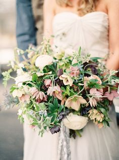bohemian wildflower wedding inspired bouquet - photo by Lauren Fair Photography