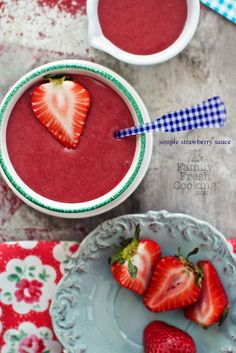 Simple Strawberry Sauce | recipe on FamilyFreshCooking.com