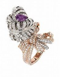 """Double Panache Saphir Rose Saphir Violet"" ring in white and pink gold, diamonds, pink and violet sapphire. Saphir Rose, Dior Jewelry, Jewelry Box, Jewelry Accessories, Sapphire Jewelry, Diamond Jewelry, Pink Sapphire, Jewelry Stores"