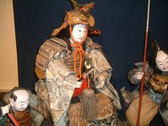 FINE-Japanese-Antique-General-Warrior-Ningyo-Gofun-Yoroi-Kabuto-Samurai-Doll-17
