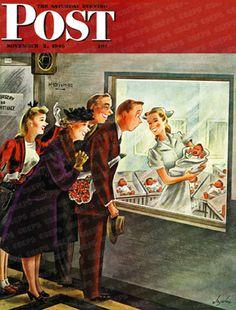 Maternity Ward by Constantin Alajalov, November 2, 1946, The Saturday Evening Post.