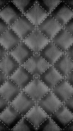 Checker Stitches Black Leather texture background. iPhone Wallpapers Pattern. - @mobile9