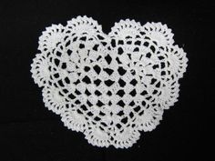5pcs Heart Doilie   - White by NatashaScrapbooKorner, $8.20 USD