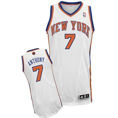 ... New York Knicks Carmelo Anthony 7 White Authentic Jersey Sale Mens  Adidas ... 4e0fd0d5b