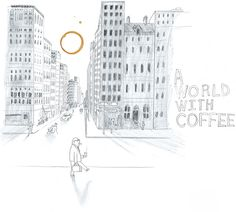 Oliver Jeffers - A world with coffee