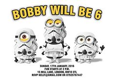 10 x Star Wars Minions Personalised Children Birthday Party Invitations or Thank you Cards: Amazon.co.uk: Office Products
