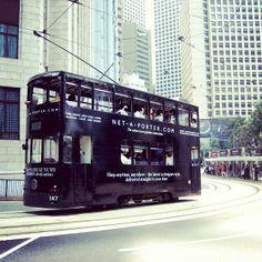 Tram - Tramspotting in Hong Kong.