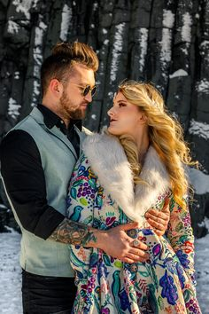 Bright & Beautiful Fire and Ice-Themed Iceland Wedding Shoot