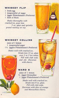 Cocktail Fans - 1960s versions of three absolutely