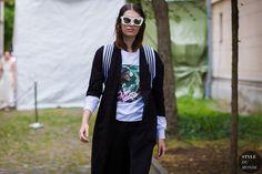 Model Street Style Street Fashion Streetsnaps by STYLEDUMONDE Street Style…