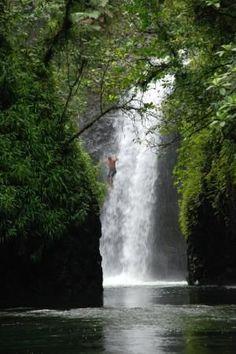 Waterfall near Savusavu, Vanua Levu, Fiji #JumpOffAWaterFall