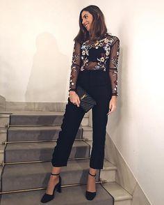 ~ 😍amO eSte lOok😍 (con mi nuevo top🥀 y mis nuevos pantalones de torera y olé💃) ~ #ootd #outfitoftheday #love #trend #trendy #night #zara #igers #igersvalencia #laucloset #tapfordetails