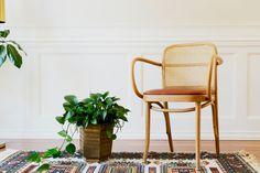 Rattan & Wicker Thonet Chair by MicroscopeTelescope on Etsy