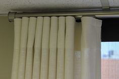 Here is the other option: nice nickel rod with ripple fold drapes - Google Search