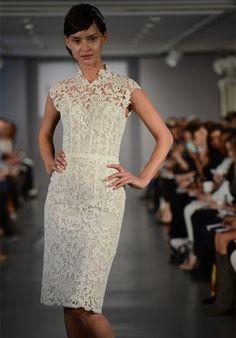 Black venice lace wedding dress