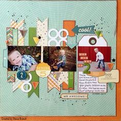 Super cute 1 page layout