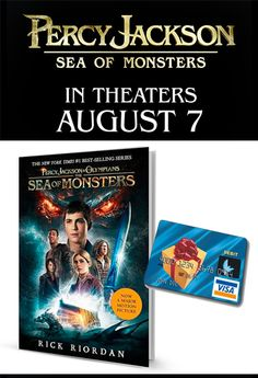 Enter to win a 30.00 Visa gift card and The Sea of Monsters (Percy Jackson & the Olympians) movie tie-in paperback book