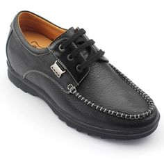 Increasing Height 2.54 Inch Black Clemence Men'S Casual Shoes Get Taller 6.5 Cm
