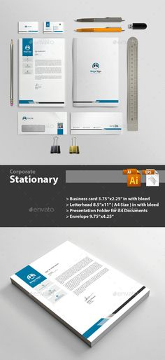 #Stationary - Stationery Print #Templates Download here: https://graphicriver.net/item/stationary/19584591?ref=alena994