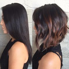 love this before and after! - inverted bob with soft waves