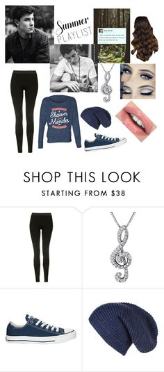 """""""Summer playlist-Shawn mendes"""" by amassat ❤ liked on Polyvore featuring Topshop, Converse and Summerplaylist"""
