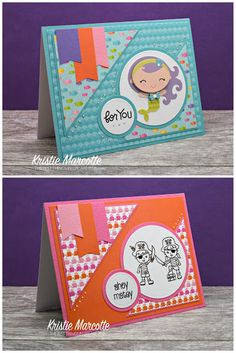 The best things in life are Pink.: Doodlebug's Under the Sea 6x6 cards