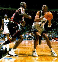 d915c479d Anfernee Hardaway - Orlando Magic and Michael Jordan Football And Basketball
