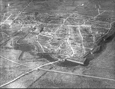 Ypres trenches, aerial view