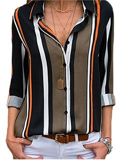 Women Blouses 2019 Floral Print Long Sleeve Turn Down Collar Blouse Ladies Shirts Striped Tunic Plus Size Blusas Chemisier Femme Outfits Dress, Outfits Damen, Casual Outfits, Winter Outfits, Dress Winter, Party Outfits, Dress Summer, Night Outfits, Classy Outfits